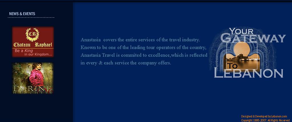 Anastasia Travel, Tourism & Limousine Company - Lebanon
